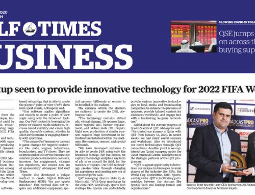 Qatar's Gulf Times reporting on Sponix Tech